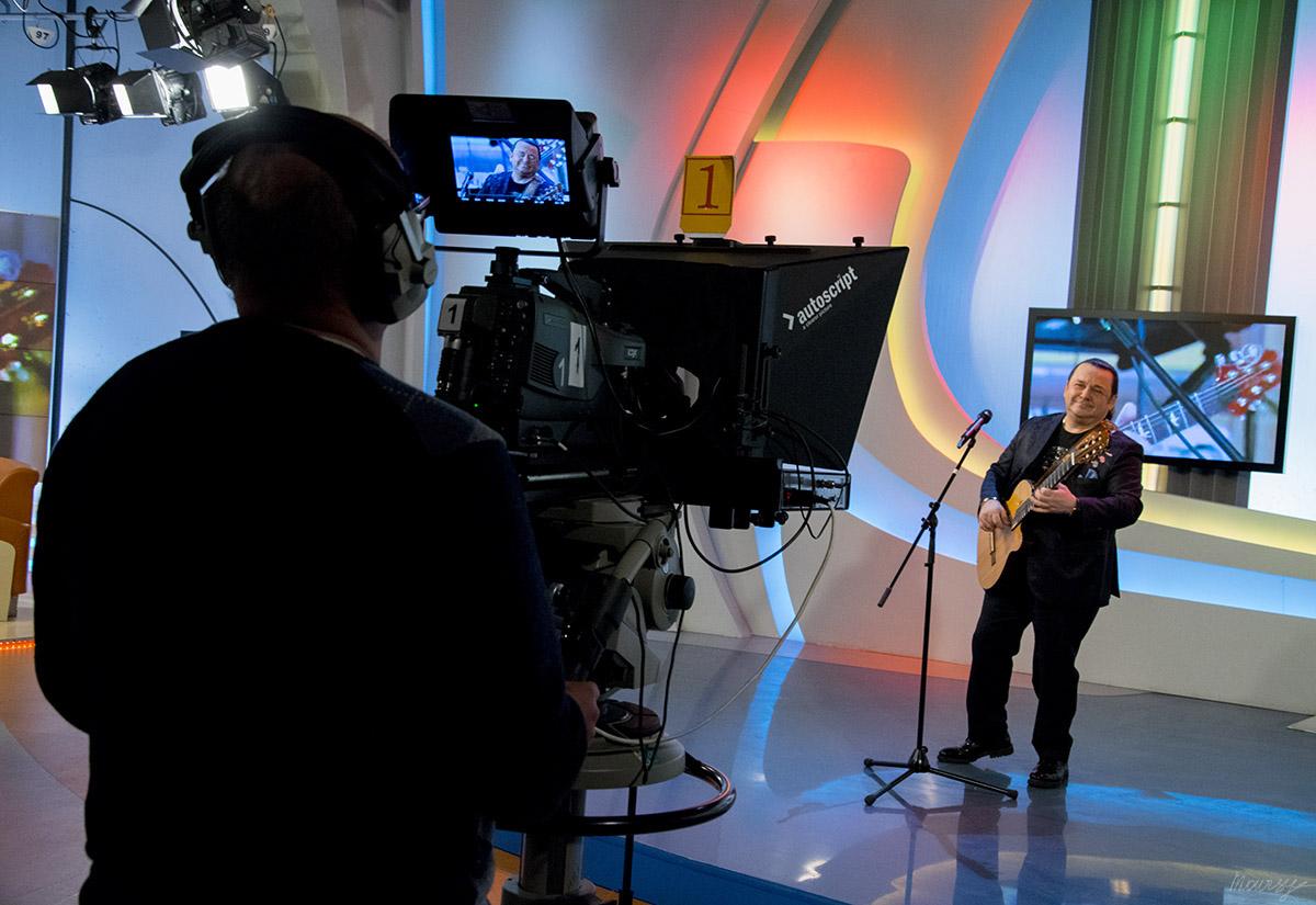 Игорь Саруханов в эфирной студии ТВЦ